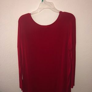 Soft red baggy dress